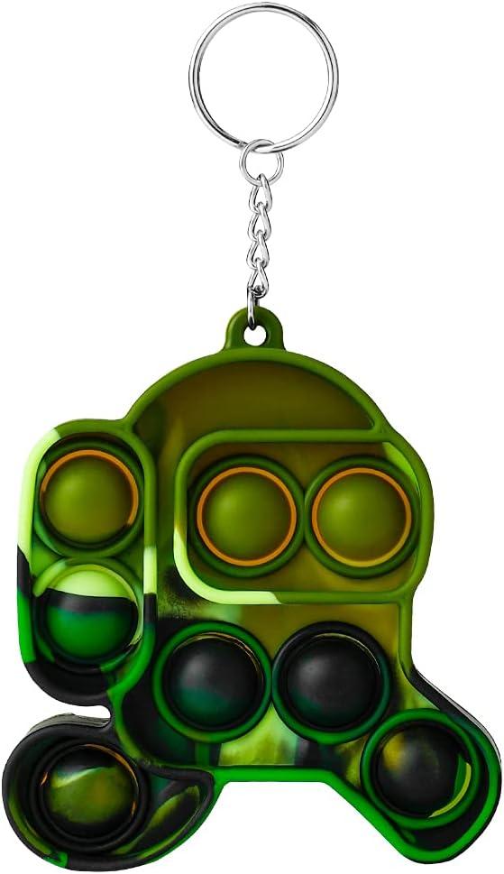 Simple Dimple Fidget Toy, Silicone Sensory Fidget Toys, Mini Key