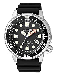 CITIZEN men's analog quartz watch with plastic strap BN0150-10E