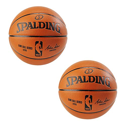 Spalding NBA Replica Indoor/Outdoor Game Ball, Size 6 (28.5-Inch) - 2 Pack
