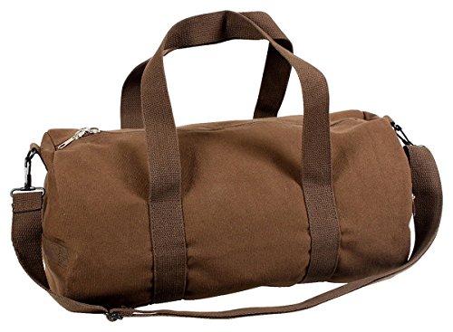 """Earth Brown 19"""" Vintage Canvas Shoulder Bag"""