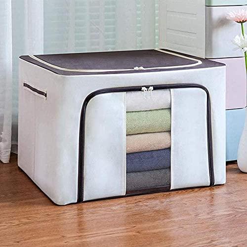 Bolsa de almacenamiento de ropa grande de 100 l plegable organizador de armario bolsas de almacenamiento para edredones mantas con asas y ventana (color : Bb)-Cc