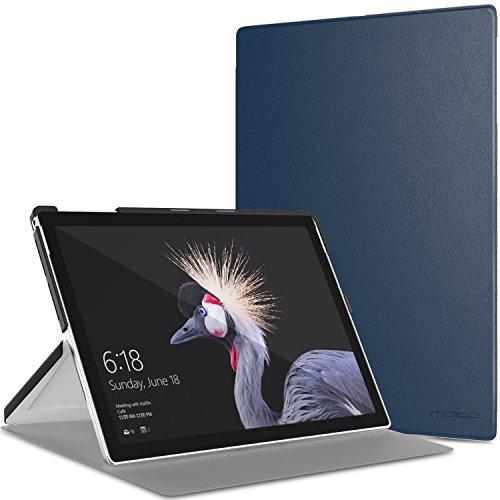 MoKo Case Compatible with Microsoft New Surface Pro 7/Pro 2017/Pro 4/Pro 6, Slim Lightweight Smart-shell Stand Cover Case Fit New Surface Pro 2017/Pro LTE/Pro 4 12.3 Inch/Pro 6 Tablet, Indigo
