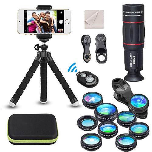 15 en 1 Kit de lentilles de caméra universel pour téléphone 18X...