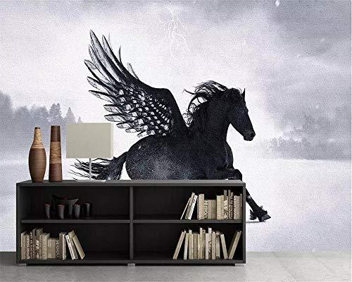 Pegasus unicornio papel tapiz TV fondo mural 3d sala de estar dormitorio fondo 3d papel tapiz 430×300cm
