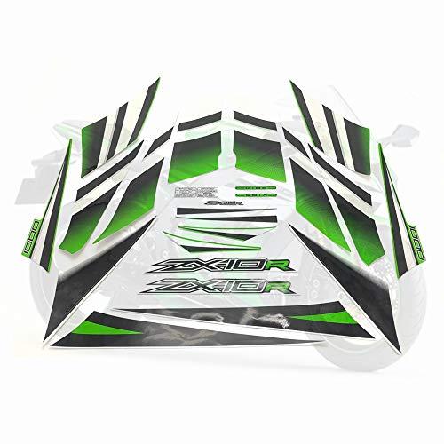 Para Kawasaki Ninja ZX10R Pegatina ZX 10R 2015 Kit completo Calcomanía Protector de motocicletas de alta calidad Racing 30th Protector decorativo (Color : Style 1)
