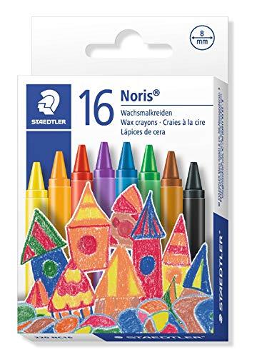 STAEDTLER 220NC16 - Caja con 16 lápices plásticos y de cera