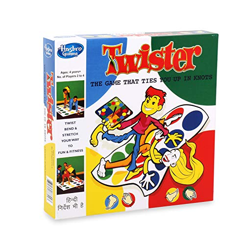 Hasbro Gaming Twister Party Game for Family and Kids Ages 4 and Up, Indoor and Outdoor Classic Game