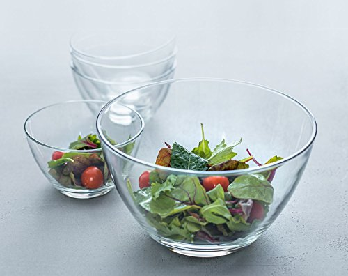 LEONARDO HOME 5er-Set Schale Schüssel, Glas klar, runde Form, 5-TLG.