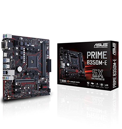 Asus Prime B350M-E Gaming Mainboard Sockel AM4 (uATX, AMD B350, 2x DDR4-Speicher, USB 3.1, M.2 Schnittstelle)