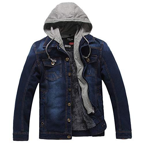 Veste en Jean Homme Automne Hiver 2019,Overdose Hoodie Hommes Sweats à Capuche Casual Denim Jacket Manteaux