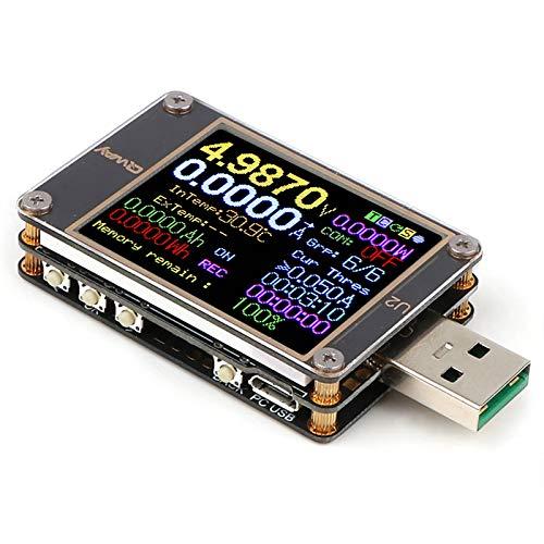 USB USB Meter Tester multímetro probador de voltaje DC 4 ~ 24V 5A Pantalla Digital Medidor de Corriente Resistencia Color Detector Capacidad de corriente Cargador de energía Medición de carga