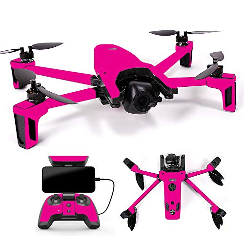 MightySkins Skin Compatible with Parrot Anafi Drone - Solid Hot Pink | Protective, Durable, and Unique Vinyl Decal wrap Cover | Easy to Apply, Remove, and Change Styles | Made in The USA
