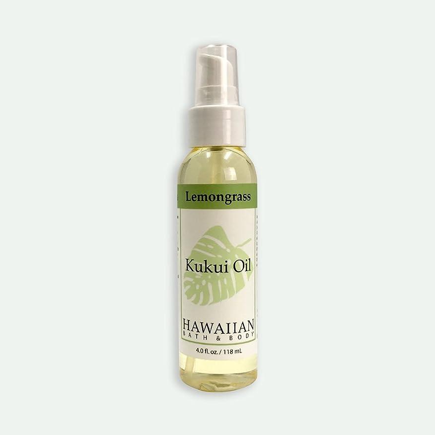 枯れる冷笑する高度ハワイアンバス&ボディ ククイオイル ?レモングラス118ml Lemongrass Kukui Nut Oil