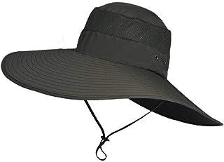 Phonleya Sombrero para el Sol Verano al Aire Libre Protección UV Playa Sombrero de Pescador Sombrero de ala Ancha Impermea...