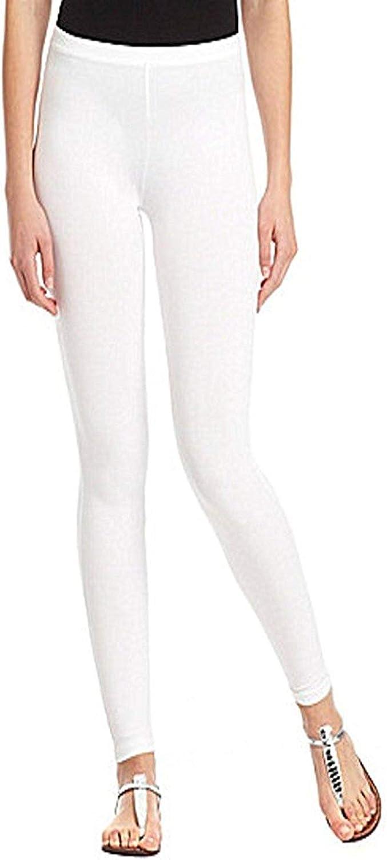 Hue Women's Classic Cotton Legging Tights, White