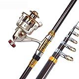 MIAO Caña de pescar, principiante Super Carbono duro Sea Pole Set Larga tiro Throw Pole Metal Pesca Rueda Artes de pesca , 3m
