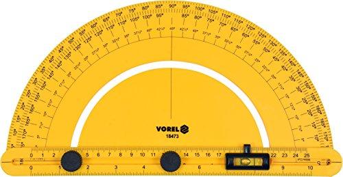 Voorel hoekmeter met rail en waterpas 250 mm 0-180 ° meetinstrument gradmeter smeedliniaal