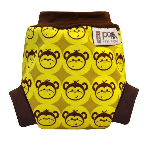 Close Pop-in - Pañal para nadar (recién nacidos, a partir 3 kg), diseño de monos, color amarillo