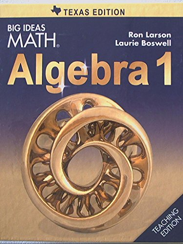 Price comparison product image Big Ideas MATH,  Algebra 1,  Teaching Edition,  Texas Edition,  9781608408177,  1608408175