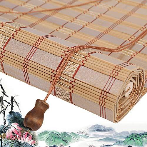 Bamboe Rolgordijn Rolgordijn Bamboe Romeinse Rolgordijnen Rolgordijnen Houten Rolgordijnen - Wanddecoraties Rolgordijnen Ramen Met Trekkoord Gordijn Zonbescherming Lichtfiltering (Grootte: 150X220CM)