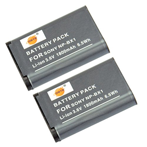 DSTE 2x NP-BX1 Li-ion Batería para Sony Cyber-shot HDR-CX240, HDR-CX240E, HDR-MV1, HDR-PJ240E, HDR-PJ275, DSC-RX1, DSC-RX1B, DSC-RX1R, DSC-RX1R/B, DSC-RX100, DSC-RX100/B, DSC-RX100 II, DSC-RX100 III, DSC-RX100M2, DSC-RX100M2/B, DSC-RX100M3, DSC-HX300,DSC-H400, DSC-HX400, DSC-HX50, DSC-HX50V/B, DSC-HX50VB, DSC-HX60, DSC-HX60V, DSC-WX300, DSC-WX300/B, DSC-WX300/L, DSC-WX300/R, DSC-WX300/T, DSC-WX300/W, DSC-WX350,HDR-AS15, HDR-AS15B, HDR-AS15S, HDR-AS100V, HDR-AS100VR, HDR-AS20, HDR-AS30V, HDR-AS10,HDR-GW66, HDR-GW66V, HDR-GW66VE, HDR-GWP88, HDR-GWP88V, HDR-GWP88VB, HDR-GWP88VE Cámara come NP-BX1 NP-M8