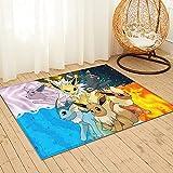 Large Puzzle Alfombra de noche de Pokémon, alfombra de piel de oveja, alfombra para sala de estar, dormitorio, sofá, suelo, 91 x 61 cm