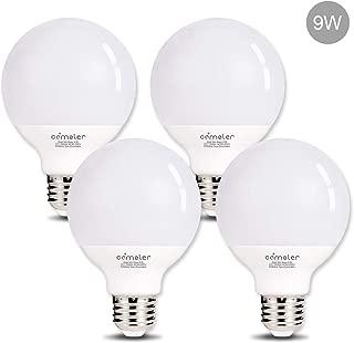 Comzler G25 LED Light 9W Globe LED Light Bulbs 72 Watts Replacement, 5000K Daylight E26 Base Globe Vanity Makeup Mirror Lights Bulb, No Spot, Non-Dimmable for Pendant Lamp, 4 Pack …
