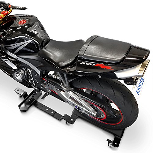 Venom Motorcycle Mover Dolly Cruiser Side Stand Compatible with Harley Davidson Dyna Glide Fat Bob Super Wide