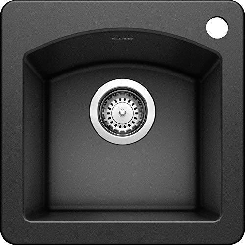BLANCO, Anthracite 440204 DIAMOND SILGRANIT Drop-In or Undermount Bar Sink, 15