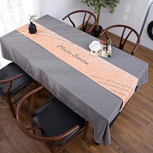 Nappe de Meuble TV, Lin en Coton Bei, Nappe de Table Basse, Housse de Meuble TV Anti-poussière(;)
