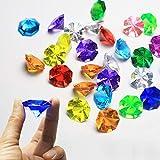 tischdeko geburtstag selber machen winter 35Stk bunte Diamanten. ist für Tischschmuck Kommunion Konfirmation Taufe Geschenk Perfekt geeignet. (Die Diamanten haben oft einen kleinen Grat und