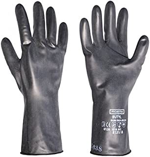 Honeywell B131/7 North 13 Mil Unsupported Butyl Glove with Smooth Finish and Beaded Cuff 11