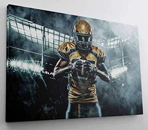 Football Spieler Ball Stadion Sport Leinwand Bild Wandbild Kunstdruck L0991 Größe 70 cm x 50 cm