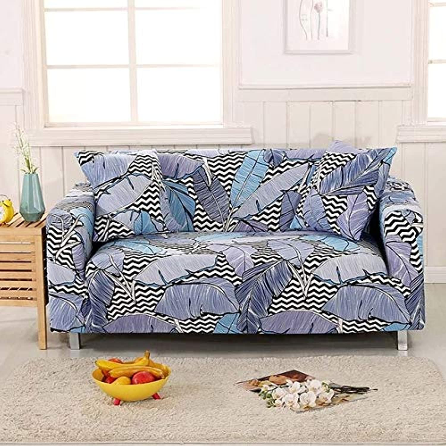 Fashion SofacoverTight Wrap All-Inclusive Slip-Resistant Sofa Covers Sofa Towel Elastic Couch Cover Single Two Three Four-Seater   05, Two-seat