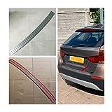OutdoorKing para BMW X1 E84 2009 2010 2011 2012 2013 2014 2015 Paragolpes Trasero Protector De La Cubierta del Panel De Arranque Paso Alféizar De La Placa De Ajuste Tronco