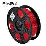 PINRUI TPU Filament 1.75mm Flexible 3D Printer Filament 1.75mm TPU Filament Diameter Accuracy +/-0.03mm 0.8kg Spool (Blue)