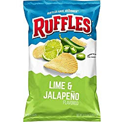 Ruffles Potato Chips, Lime & Jalapeno, 8.5oz Bag