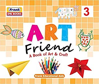 Frank EMU Books Art Friend - A Book of Art & Craft 3 - Drawing, Colouring and Craft Activity Book for Kids Age 7 Years and...