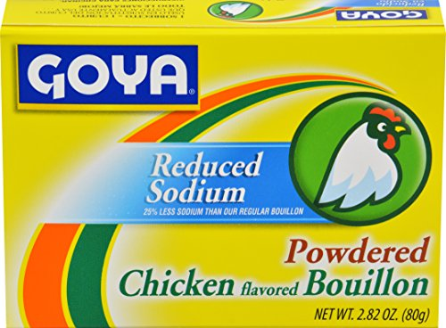 Goya Foods Chicken Bouillon Reduced Sodium, 2.82 Ounce (Pack of 24)