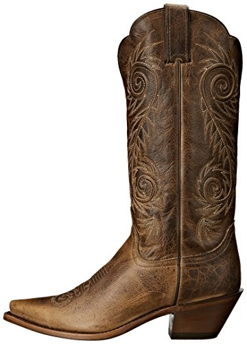 Justin Boots Women's Classic Western Boot Narrow Square Toe,Tan Damiana,7.5 B US