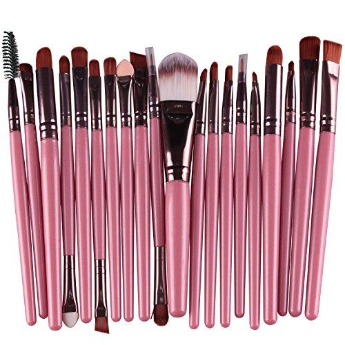 Kentop Lot de 15 pinceaux de Maquillage Brosse à Lèvres œil Outils de Maquillage, 15 cm sur 15cm E