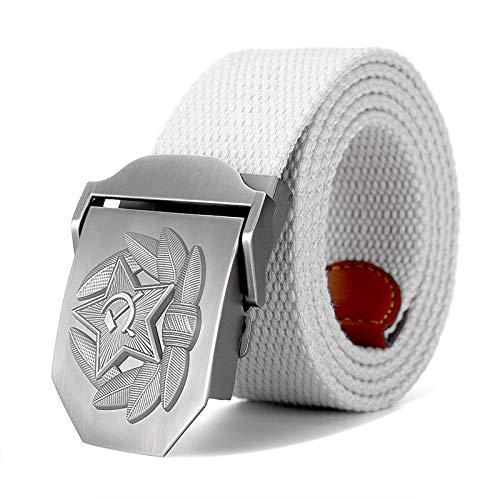 WDYDDW Correa De Lona,Hombres Woment3D Diseño De Insignia De Gorra Soviética Cinturón De Lona Memoria Soviética CCCP Jeans Cinturones Tácticos Militares Unisex Gran Zise