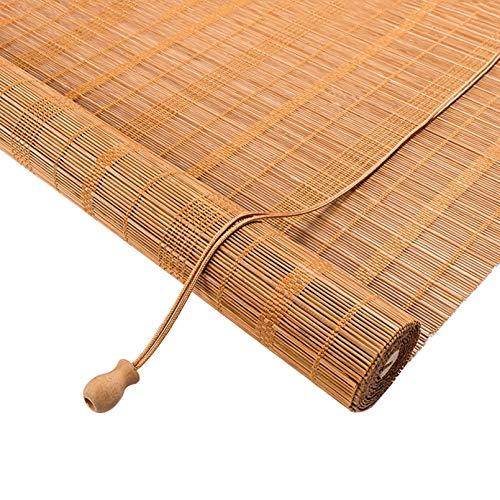 Persiana Enrollable Cortina de Bambu,Estores de Bambú para Ventanas Sombras Plisadas,Impermeable/Transpirable/Cortinas Opacas Retro,para Jardines,Porche,Interiores,Exteriores (120x160cm/47x63in)