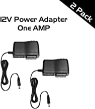 Ares Vision 1 AMP 12v DC Power Supply Adapter 2 Pack Bundle for CCTV, LED and Most 12v Equipment