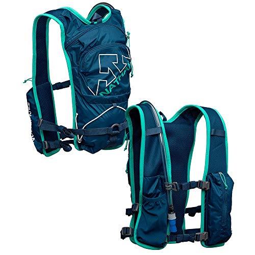 Nathan QuickStart - Chaleco de hidratación (6 L, incluye bolsa de 1,5 L), Azul