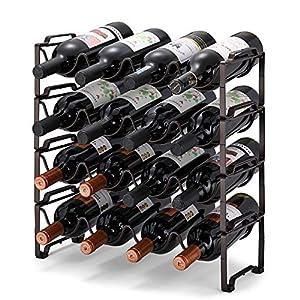 Simple Trending 4-Tier Stackable Wine Rack, Standing Bottles Holder Organizer,...