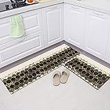HLXX Alfombrillas geométricas Simples Alfombrillas de Cocina Alfombrillas Antideslizantes para baño alfombras de Entrada Alfombrillas Decorativas para el hogar A8 50x80cm + 50x160cm