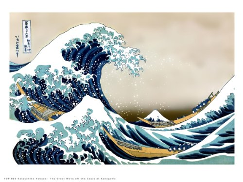 onthewall Hokusai The Great Wave Off Kanagawa Japanische Poster Kunstdruck 40 x 30 cm (PDP 059)