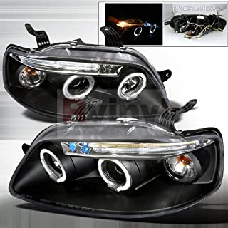 Spec-D Tuning Chevrolet Aveo 2004 2005 2006 2007 2008 LED Halo Projector Headlights - Black