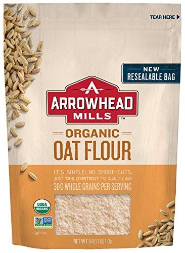 Arrowhead Mills Organic Oat Flour, 16 oz. Bag (Pack of 6)